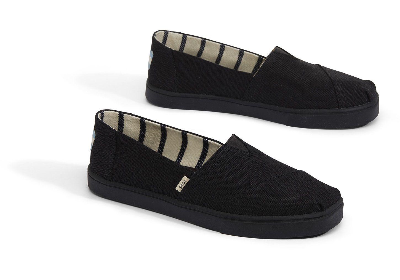 best service new design sneakers for cheap Black on Black Heritage Canvas Women's Cupsole Alpargatas ...