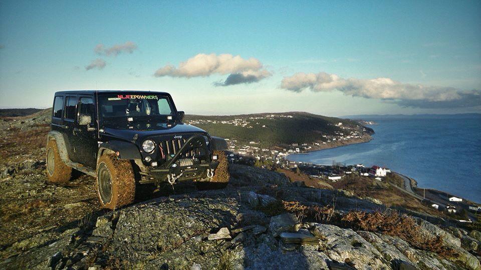 Spaniards Bay Newfoundland Hill Climb 4x4 Offroad Jeep Wrangler