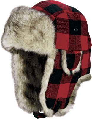8a8dc89abed654 Keep your head and ears warm during cold days with Cabela's Men's Trapper  Hat. 80/20 acrylic/polyester faux-fur trim adds softness and comfort.