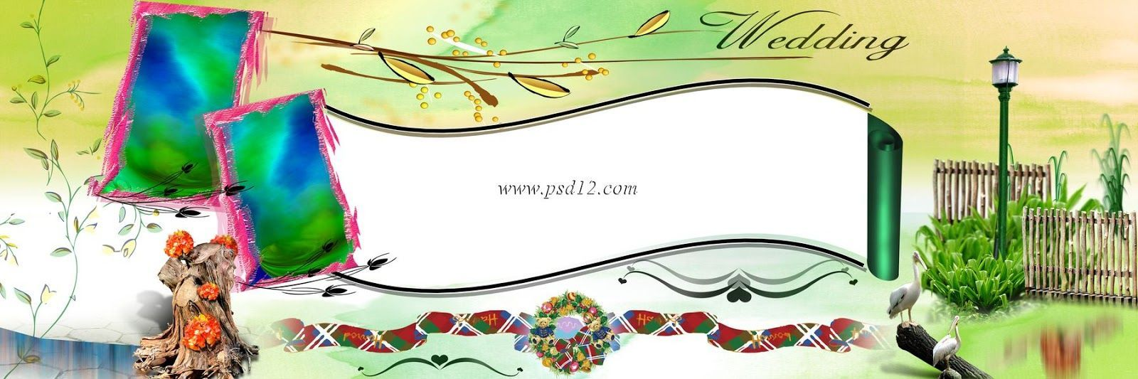 Photoshop Backgrounds Wedding Album Design 12x36 Psd Files