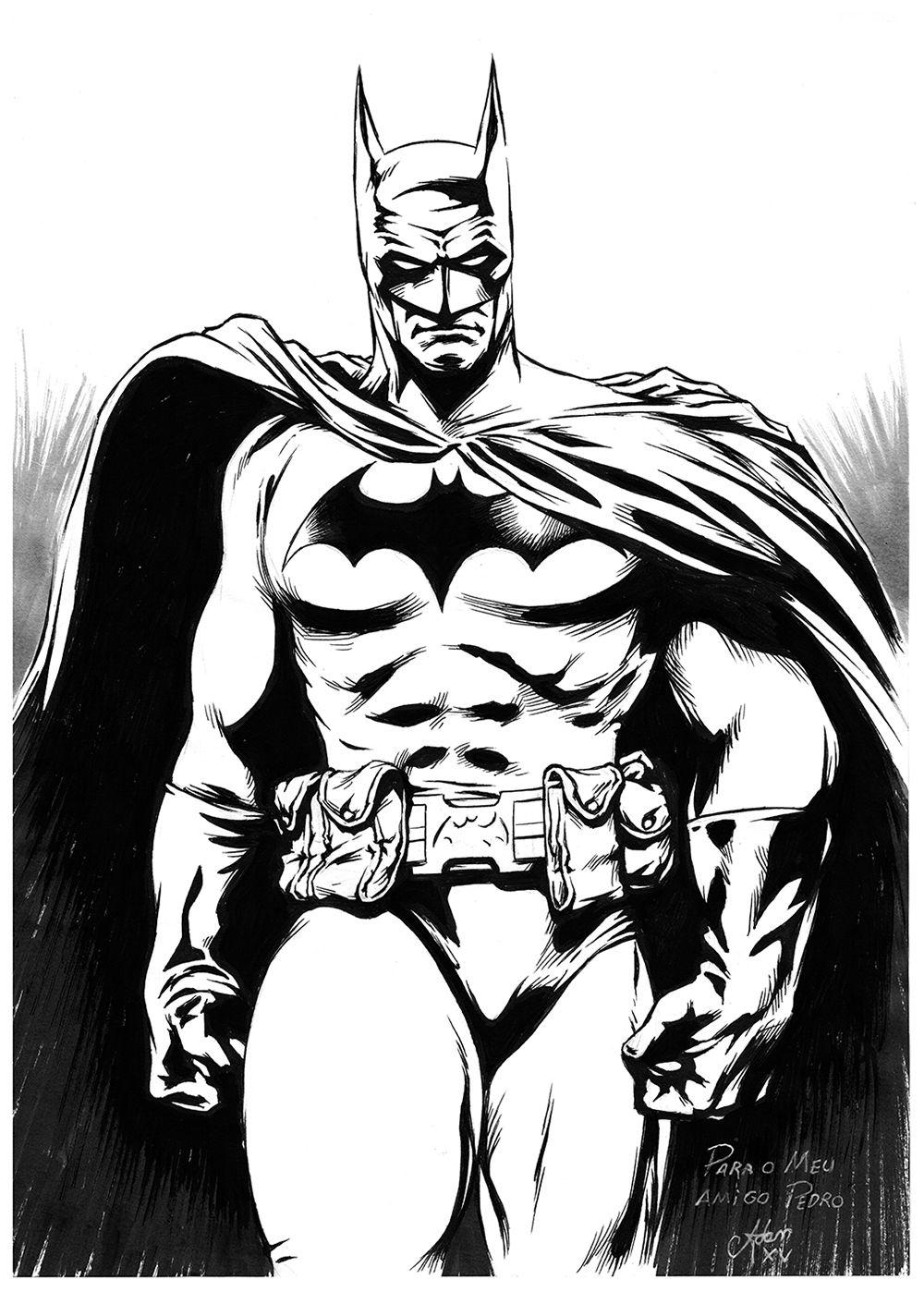 Batman, by me. #dc #comics #black #white #hero #gothan ...