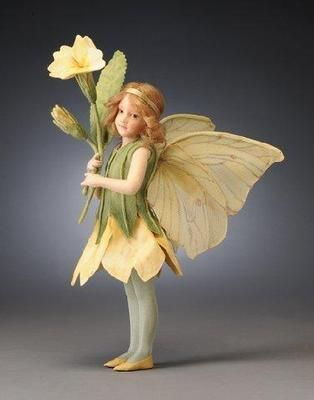 R John Wright Collectible Dolls - Primrose Fairy - The Flower Fairies Collection