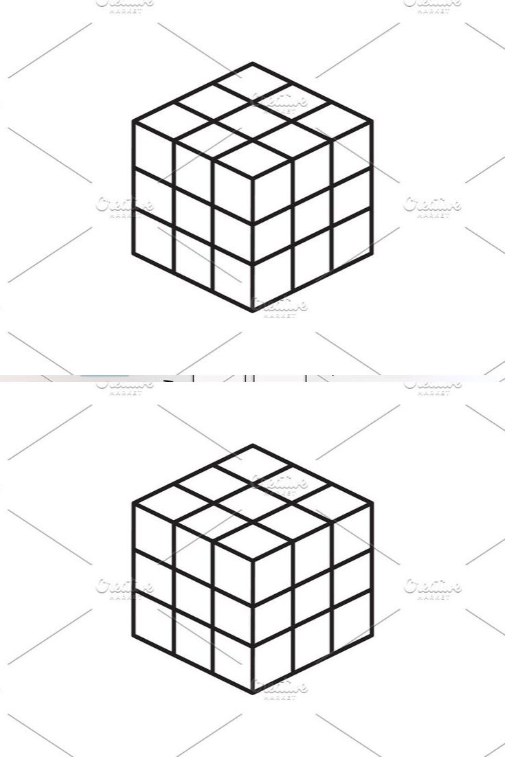 Rubik S Cube Vector Line Icon In 2020 Rubiks Cube Cube Cube Toy