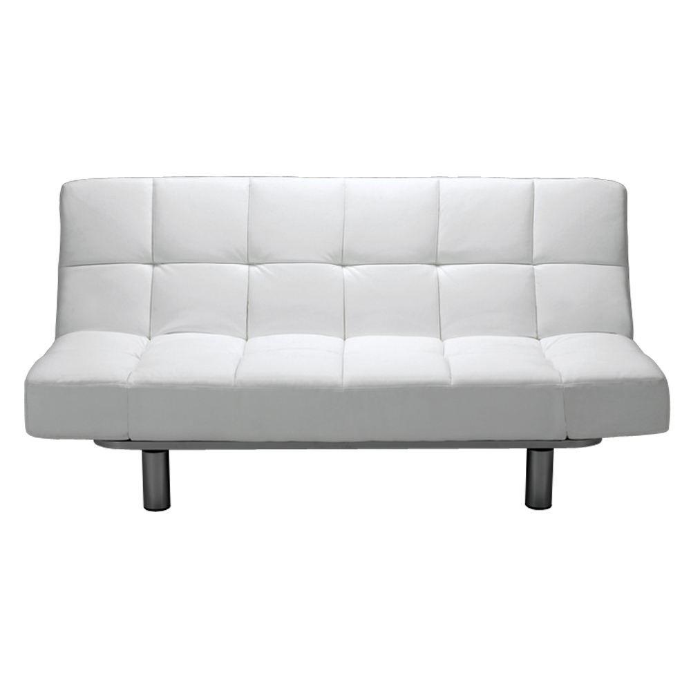 In My Future Home Euro Futon White Fantastic Furniture Leather