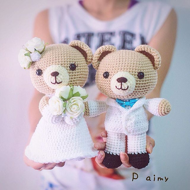 Amigurumi bride and groom wedding dolls. (Inspiration). | Knitted ... | 640x640
