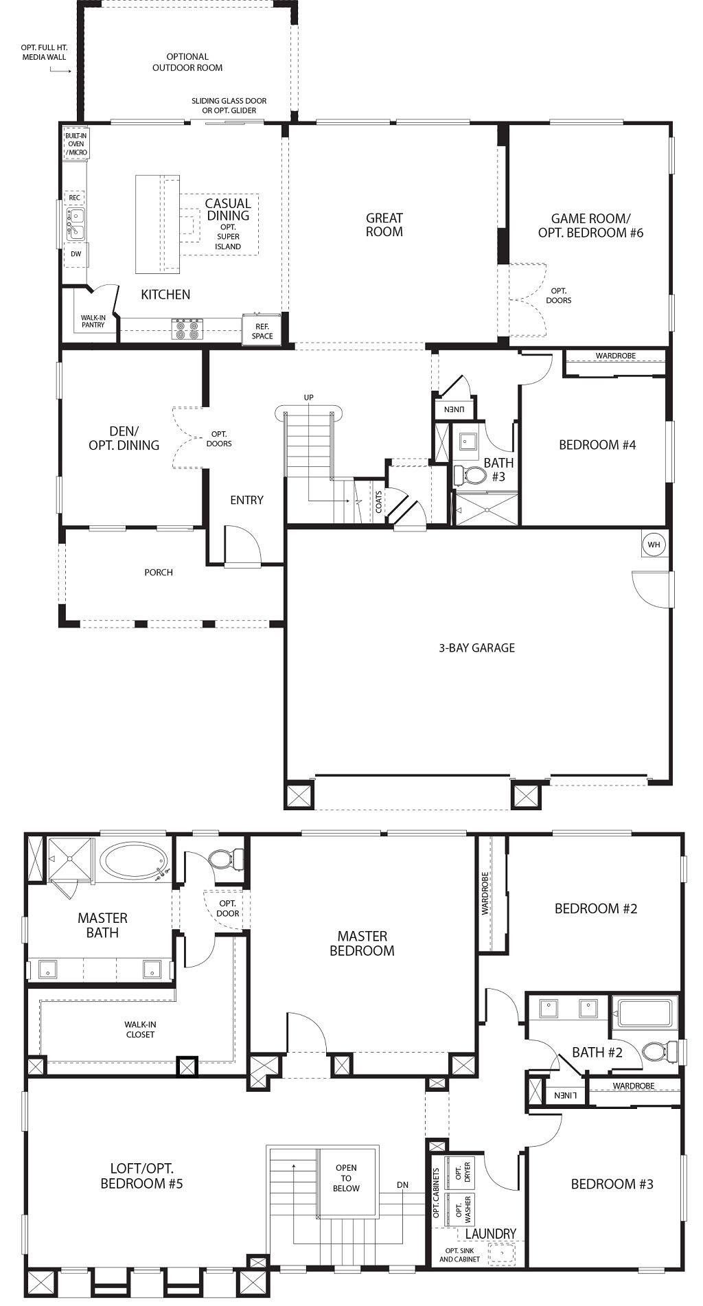 Woodmont_2C_1+2(model) in 2020 | Simple floor plans ...