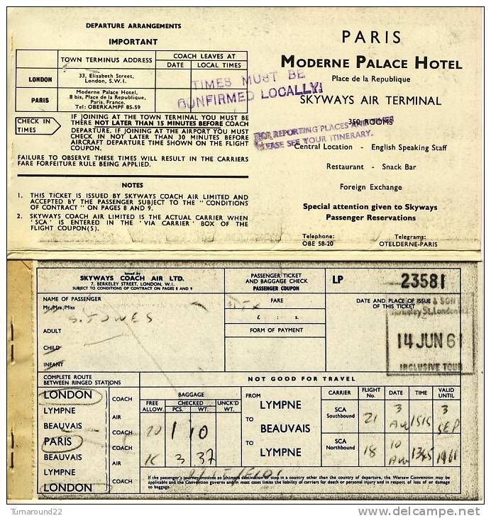 what were airline tickets like in the 1950s - Google Search - airline ticket template free