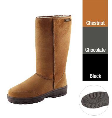 318b65b52cb Supertread Tall Sheepskin Boots | Shop New Zealand | Canterbury ...