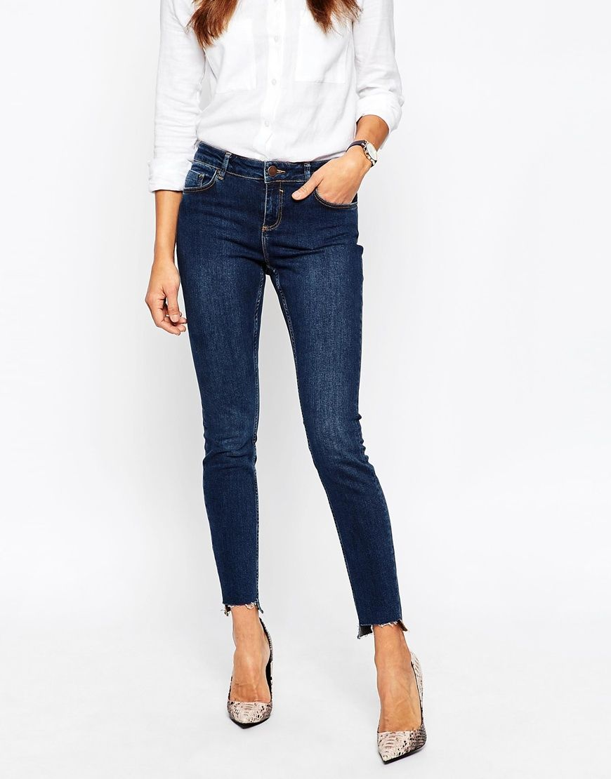 Asos Womens Lisbon Midrise Skinny Jeans In Washed Washed Black - ASOS Basics