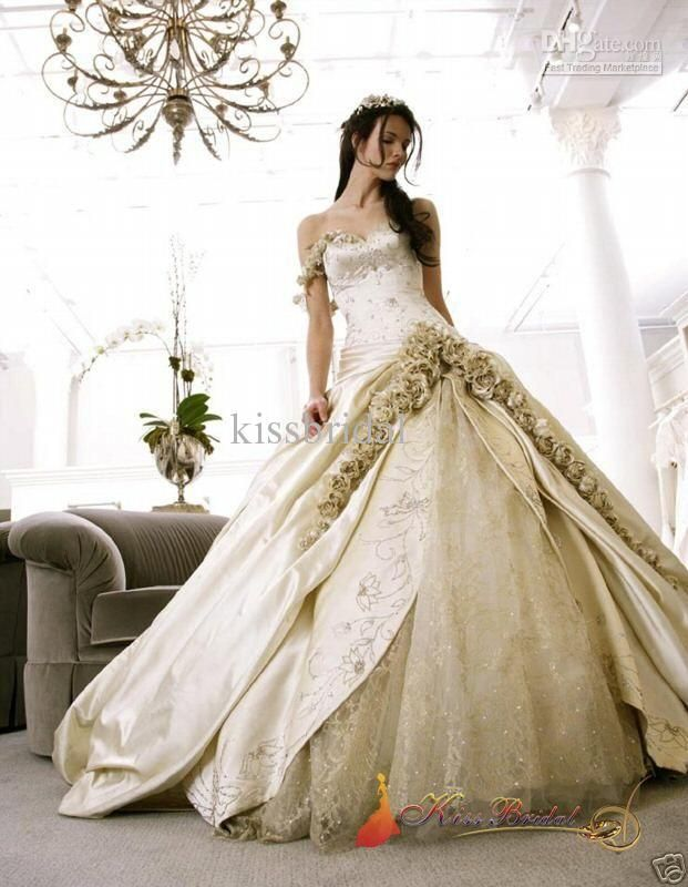 Wholesale Super Cost-Effect Floor Length Champagne Modern Sweetheart Ball Gown Sleeveless Wedding Dresses Gown, Free shipping, $239.92~249.92/Piece | DHgate