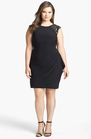 145b70ef5ba Xscape Embellished Side Drape Sheath Dress (Plus Size) available at   Nordstrom