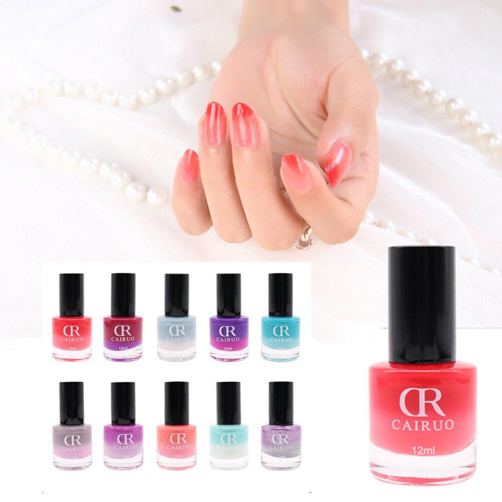 12ml Thermal Nail Polish Non Toxic Temperature Gradient Color Changing Varnish Nail Polish Gel Art Gel Nails
