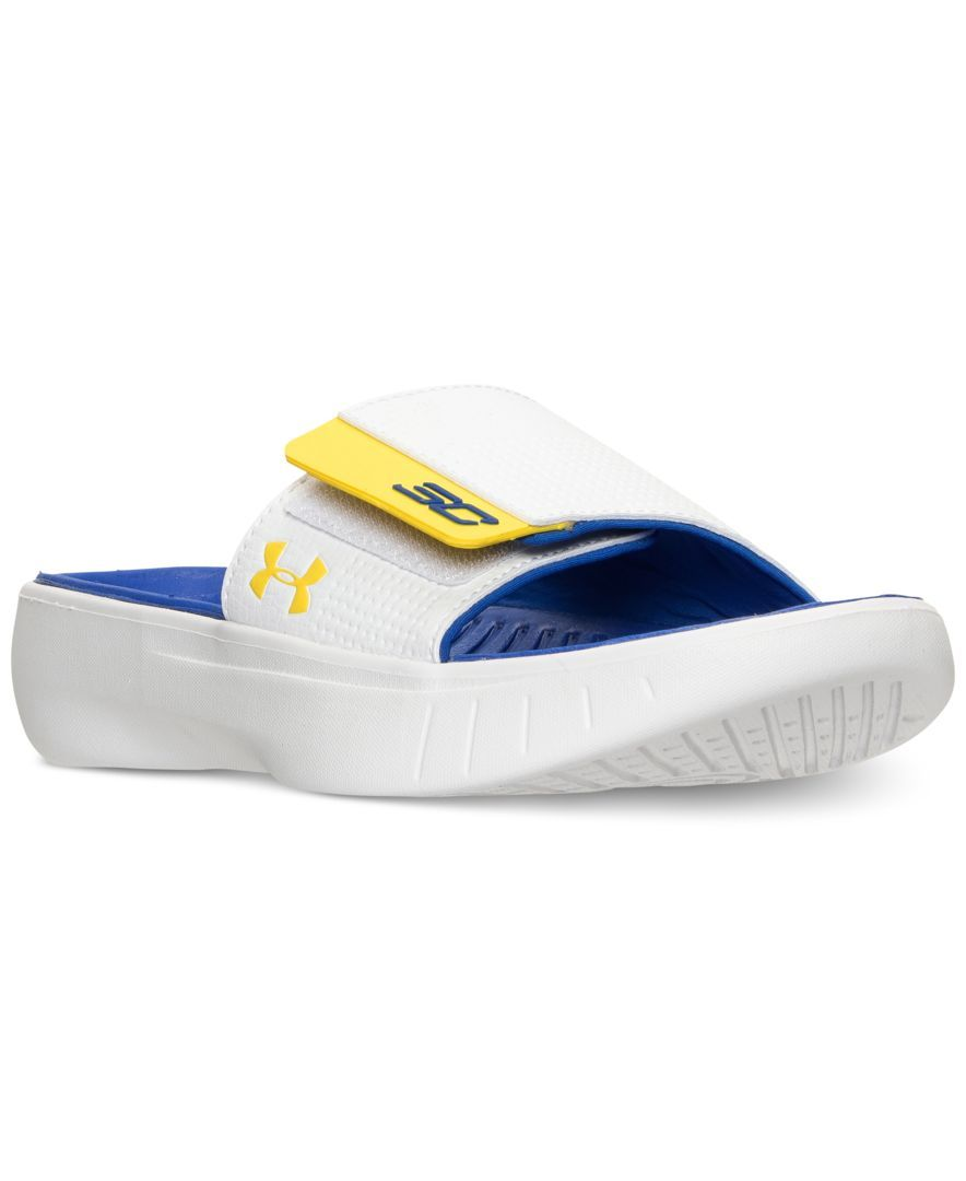 aeb775b73f20 Under Armour Boys  Curry 3 Slide Sandals from Finish Line