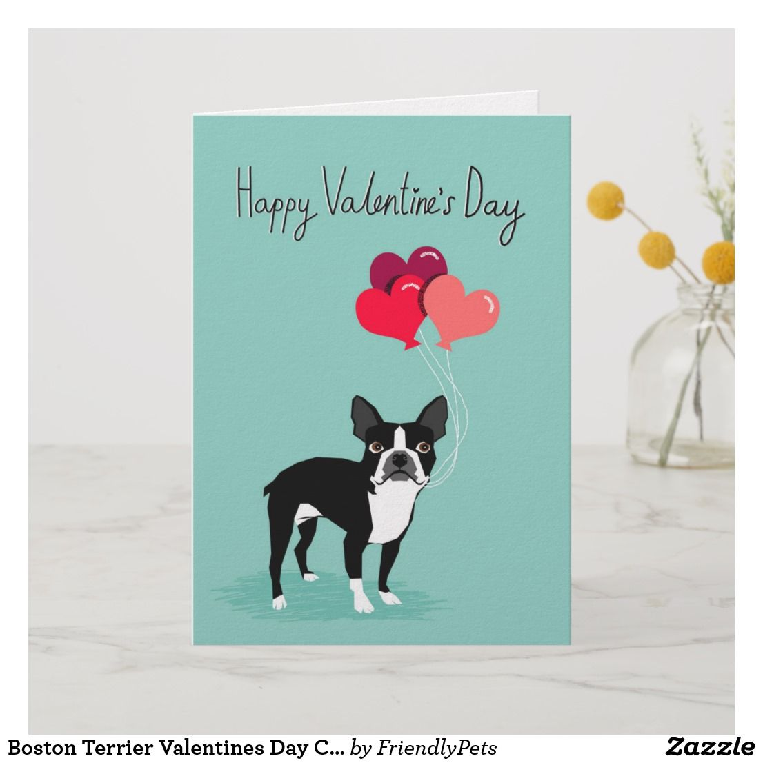 Boston Terrier Valentines Day Card Cute Dog Card Zazzle Com Dog Cards Dog Valentines Funniest Valentines Cards