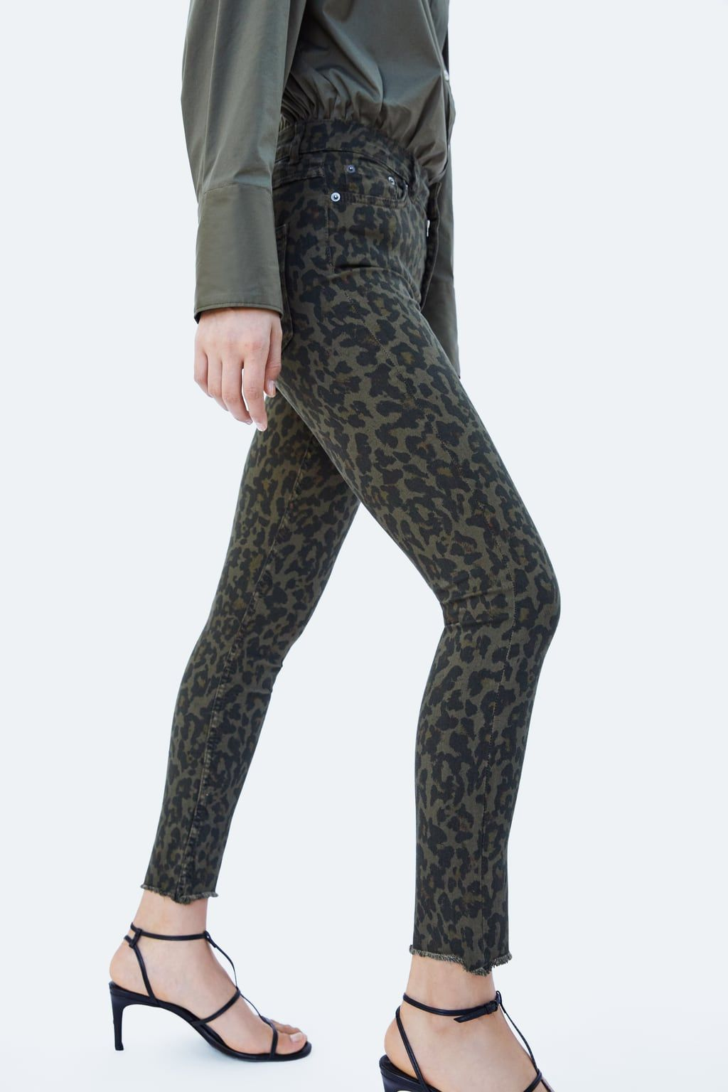 ee6a6fad Image 4 of HIGH-WAISTED PREMIUM ZW LEOPARD PRINT JEANS from Zara ...