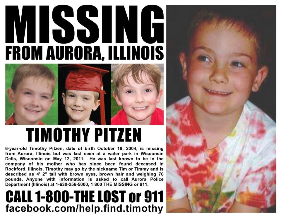 1/29/2013: Timmothy Pitzen has been missing from Aurora, Illinois since May 12, 2011. Timmothy was... pinned with Pinvolve