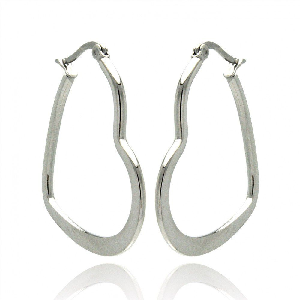 Women's Heart Shape Hoop Earrings Stainless Steel (20mm Diameter) $9.99 http://www.amazon.com/gp/product/B00BLFMGMS/ref=as_li_qf_sp_asin_il_tl?ie=UTF8&camp=1789&creative=9325&creativeASIN=B00BLFMGMS&linkCode=as2&tag=pintpins08-20&linkId=GG3B5SHM23A22ITS