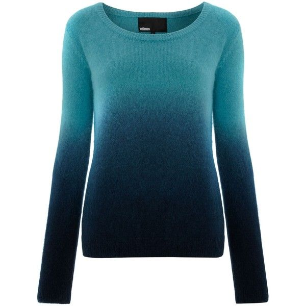 Minimum Ombre knit ($115) ❤ liked on Polyvore featuring tops, sweaters, shirts, blue, свитера, knitwear, women, blue top, knit shirt e knit sweater
