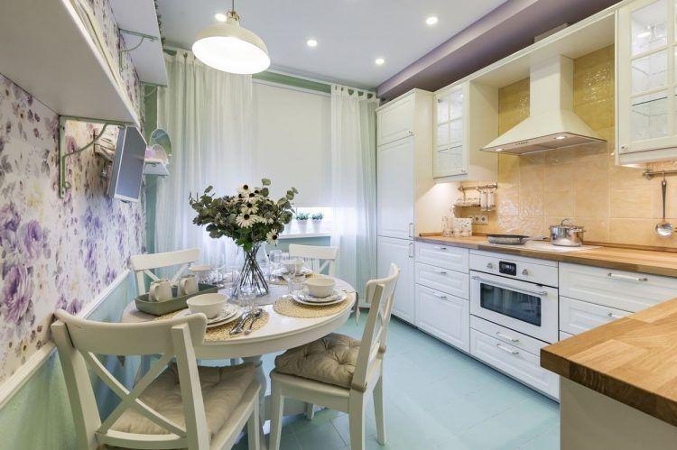 9m2-es konyha szép felújítása és berendezése provence-i stílusban ...