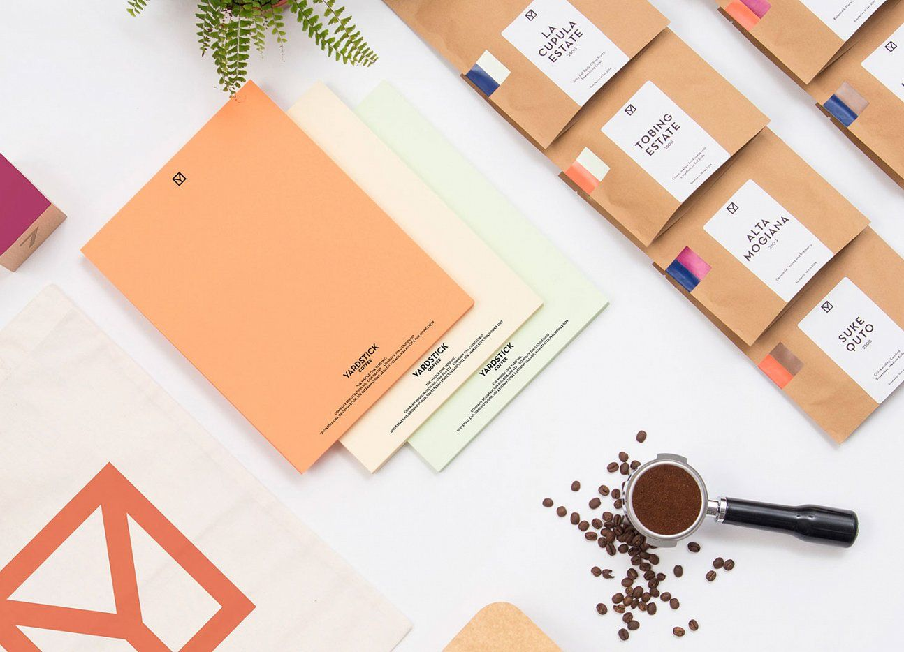 Yardstick Coffee Brand Identity by Acre - Stationery / www.acre.sg