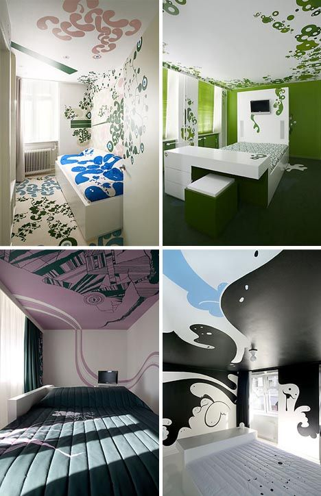 Cool wall designs.