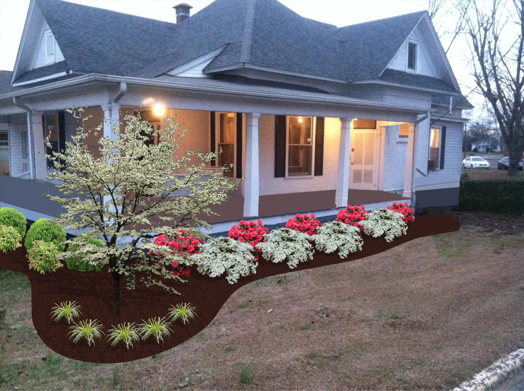 Older Southern Landscape Cheap Landscaping Ideas Front 400 x 300