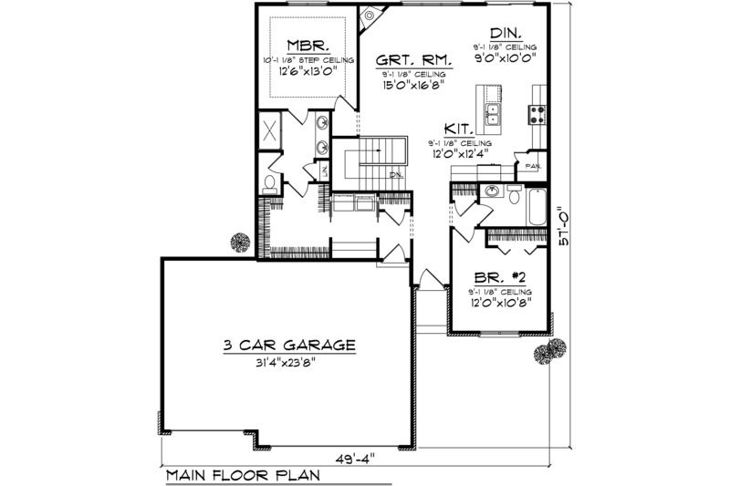 ranch style house plan 2 beds 2 00 baths 1367 sq ft plan 70 1020 rh pinterest com