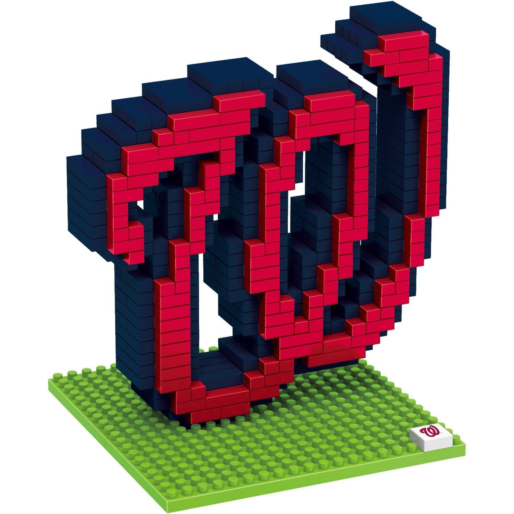 Washington Nationals MLB 3D BRXLZ Construction Puzzle Set Team Logo