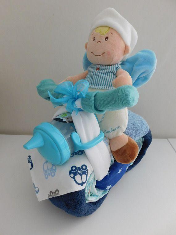 Gateau De Couches Moto Pour Garcons Diaper Cake Bike La Baby