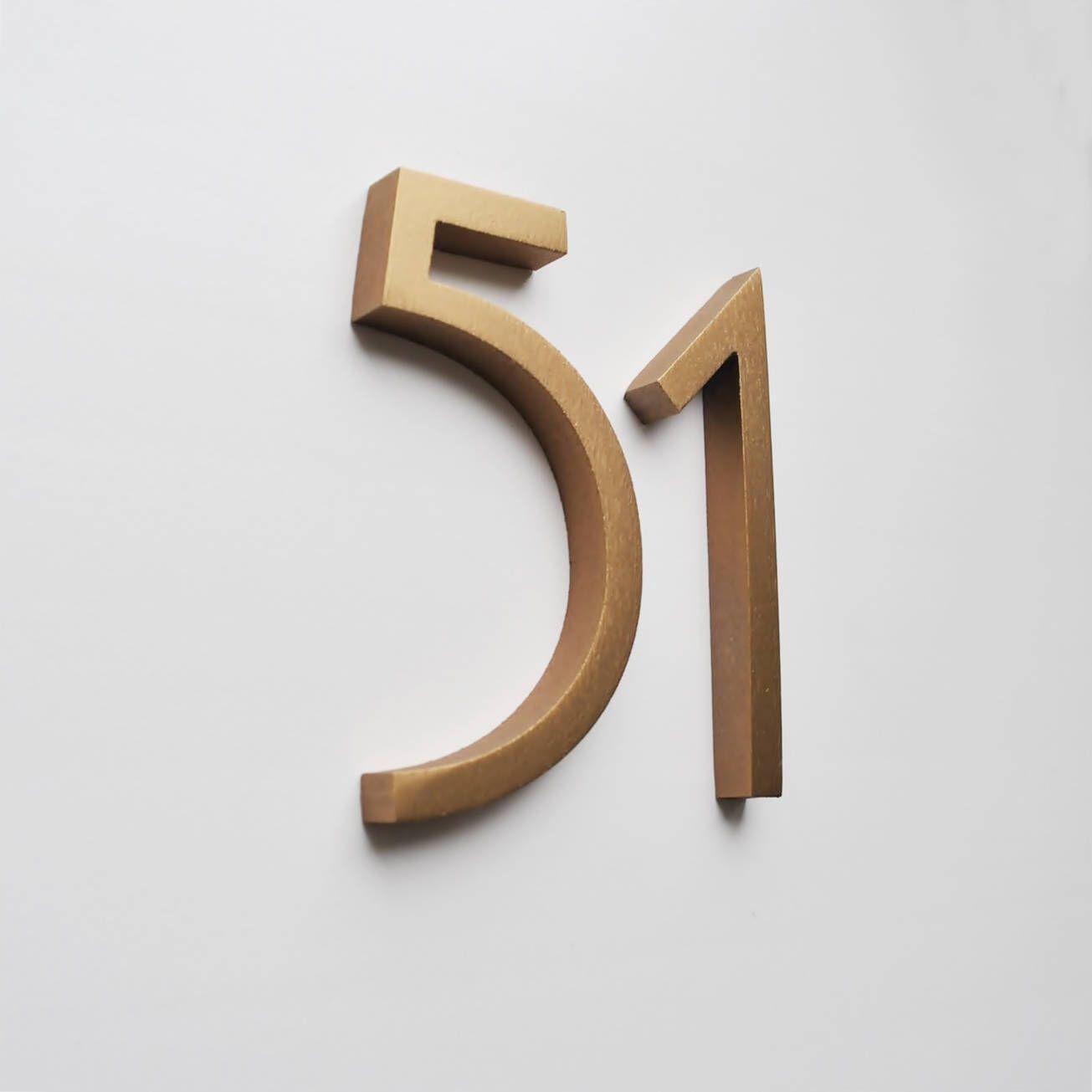 Aluminium Numbers 4inch 10cm Bronze Color Metal House Etsy In 2021 Metal House Numbers Metal Numbers Bronze House