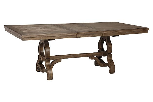 Grayish Brown Wendota Dining Room Table View 2 With Images