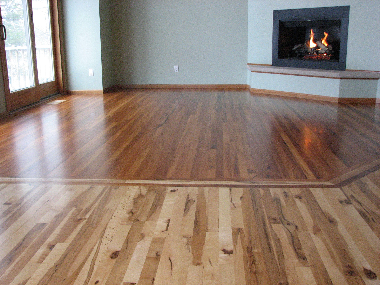 Two Floors In One Looking Good Rare Earth Hardwoods Wood Floor Design Flooring Wood Floor Kitchen