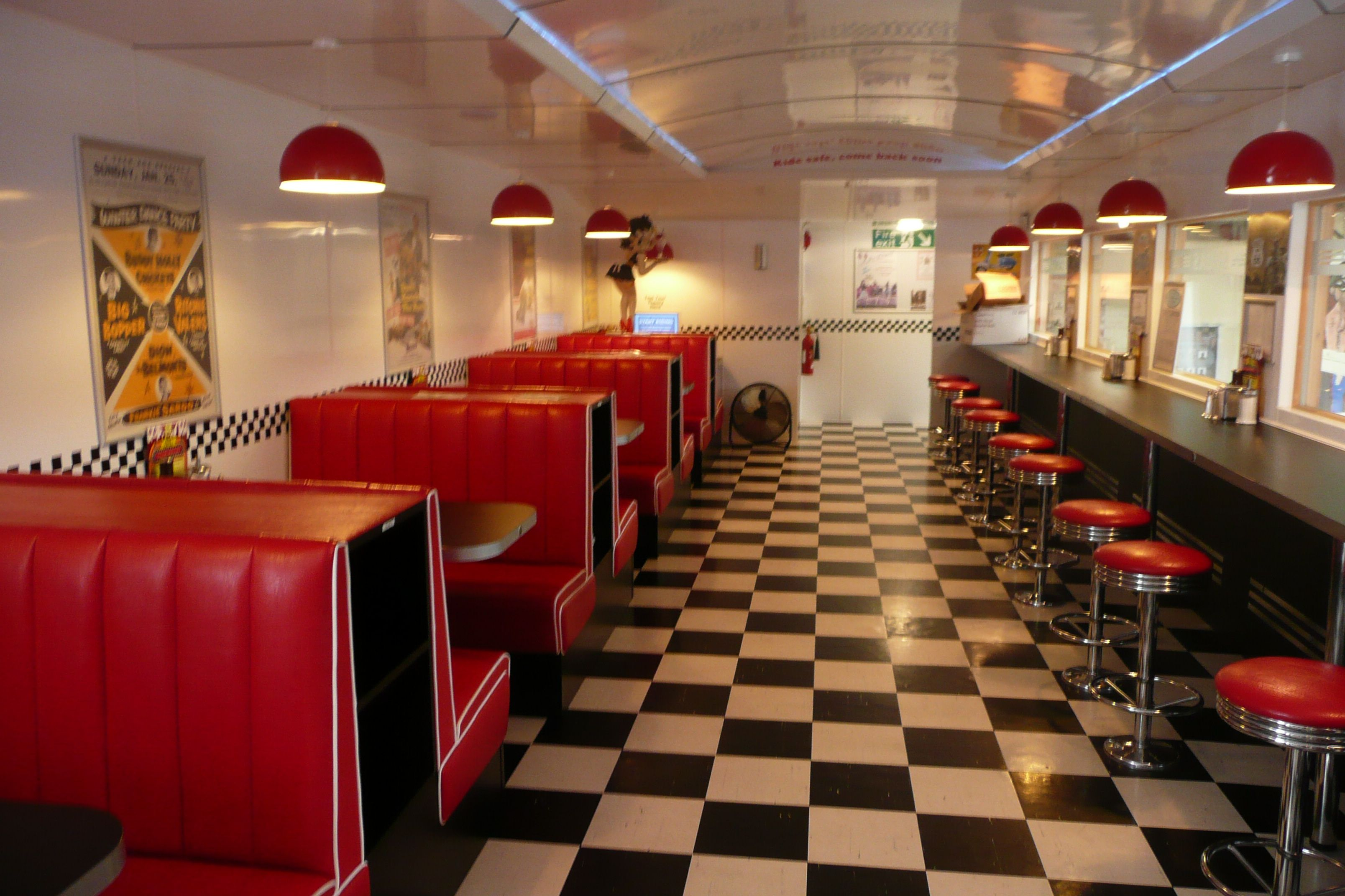 Leyland trading estate steps back to the 1950s diners for 50s diner style kitchen