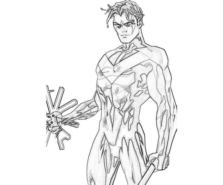 Young Justice Printable Best Of Coloring Pages: Nightwing Superheroes Coloring Page For Kids
