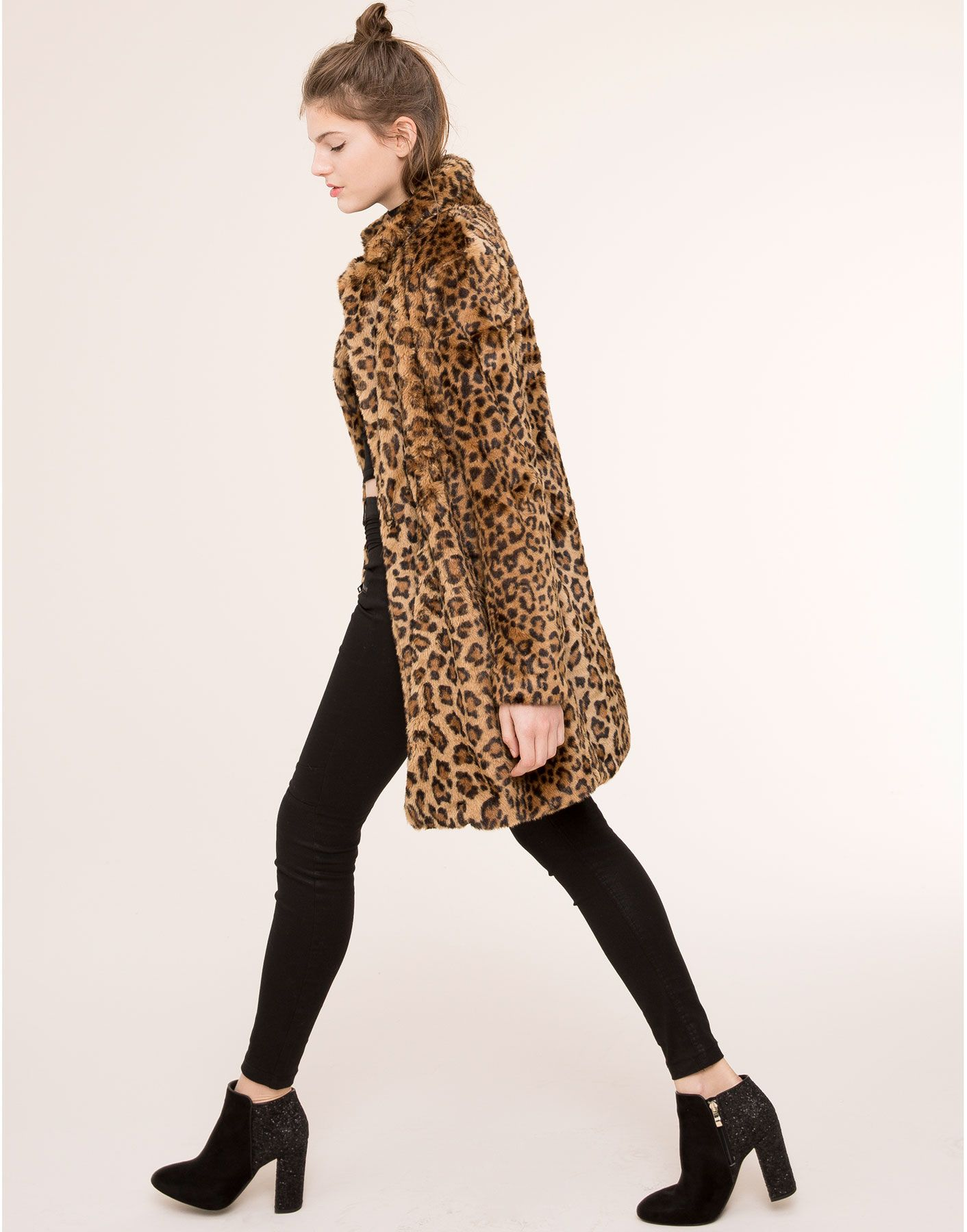 Abrigo pull and bear leopardo