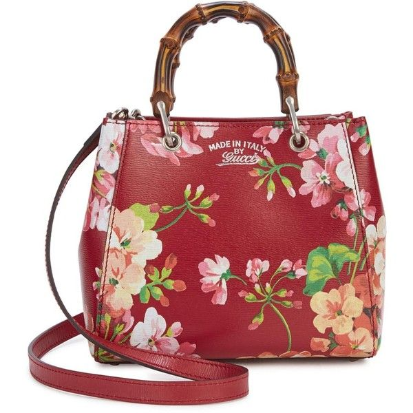 a0a24fe9cb17 Womens Shoulder Bags Gucci Bamboo Blooms Mini Printed Cross-body Bag  ($1,200) ❤