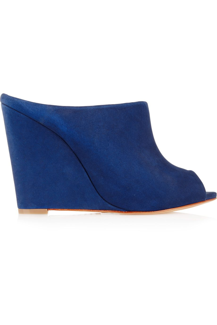 Shop on-sale Schutz Suede wedge mules. Browse other discount designer  Sandals & more on The Most Fashionable Fashion Outlet, THE OUTNET.
