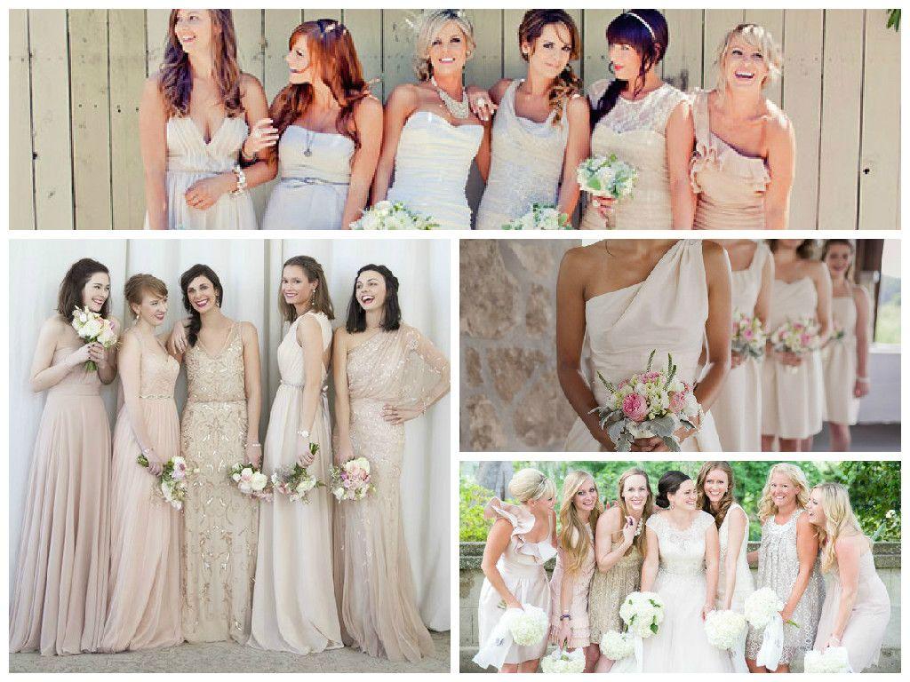 Nude bridesmaids dress collage bridesmaids pinterest nude bridesmaids dress collage ombrellifo Choice Image