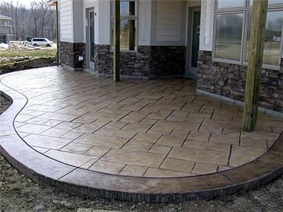 Nutmeg, Gold Sandstone Concrete Patios Concrete by Design Springboro ...