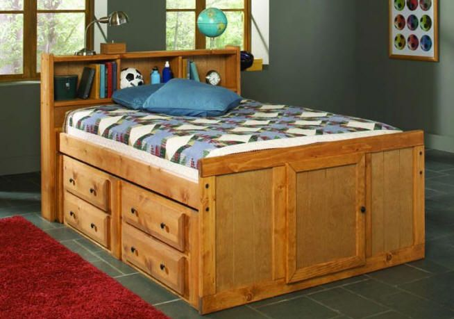 Black Mountain Full Size Bookcase Captain S Bed Bed Storage