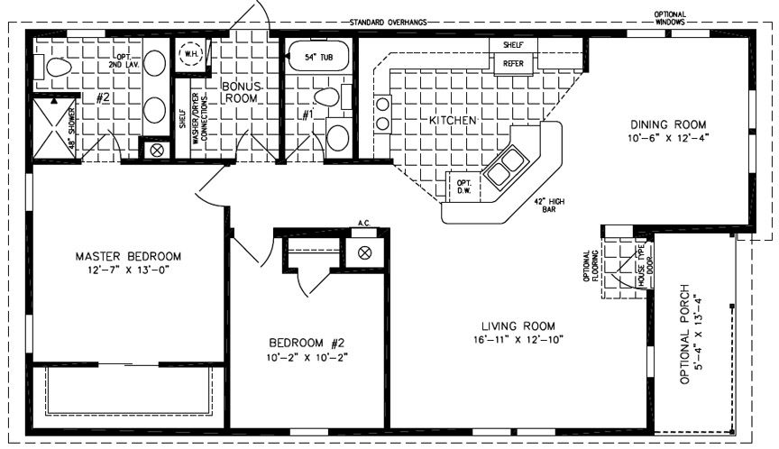 Floorplans For Manufactured Homes 1000 To 1199 Square Feet Small