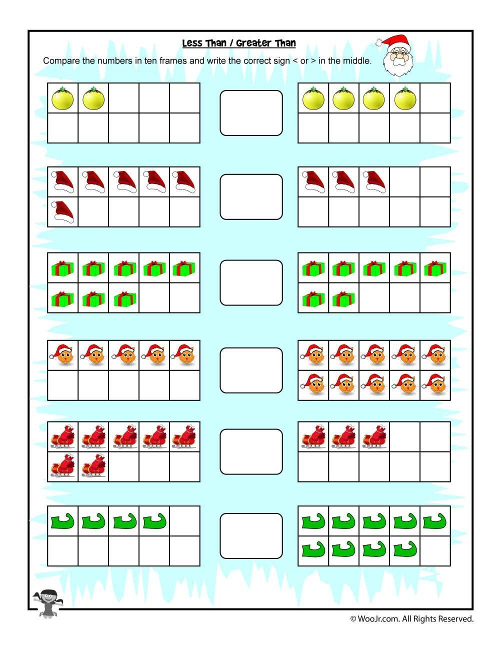Worksheets Greater Than Less Than Worksheets easy counting greater thanless than worksheet 1st grade math worksheet