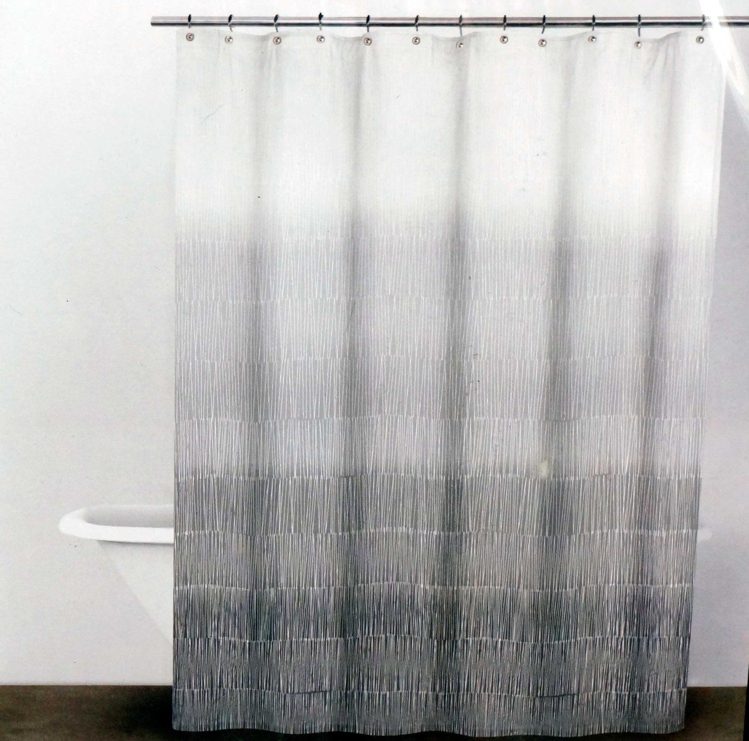 Amazon Com Dkny Fabric Shower Curtain Twine Graphite