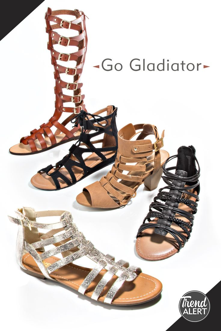 Get strappy for summer in the latest gladiator styles. Shop