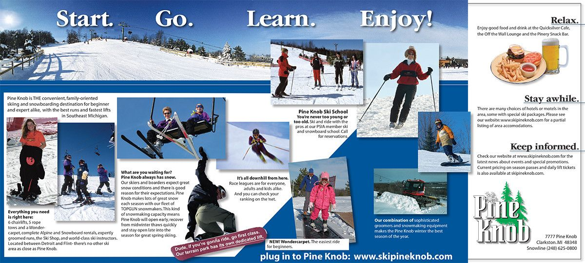 Image Result For  Ski Resort Brochure  Otsego Club