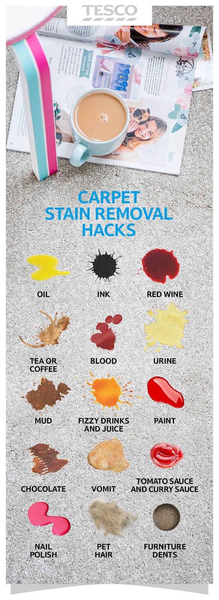 Tesco Cleaning Hacks Carpet Cleaning Hacks Stain Remover Carpet