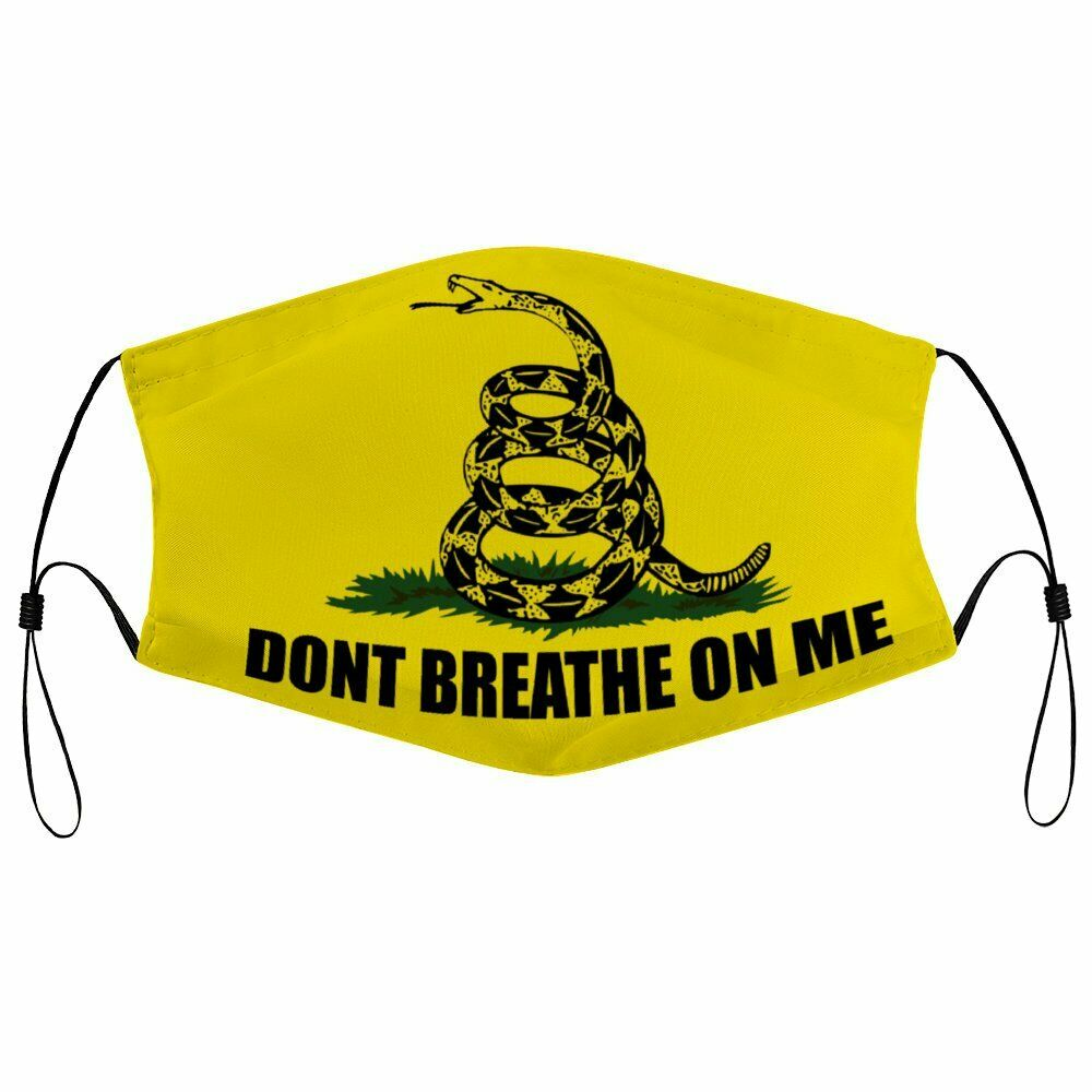 Dont Tread On Me Face Mask Washable Face Mask With Filters Ebay Face Mask Flag Face Face