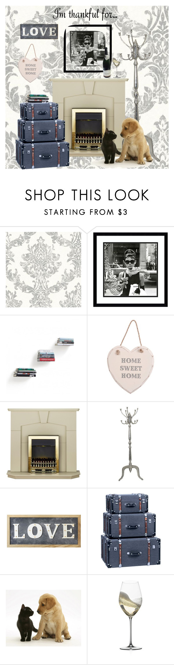 """Thankful for the little things"" by drunkenfashionist ❤ liked on Polyvore featuring Amanti Art, Umbra, Parlane, Riedel and imthankfulfor"