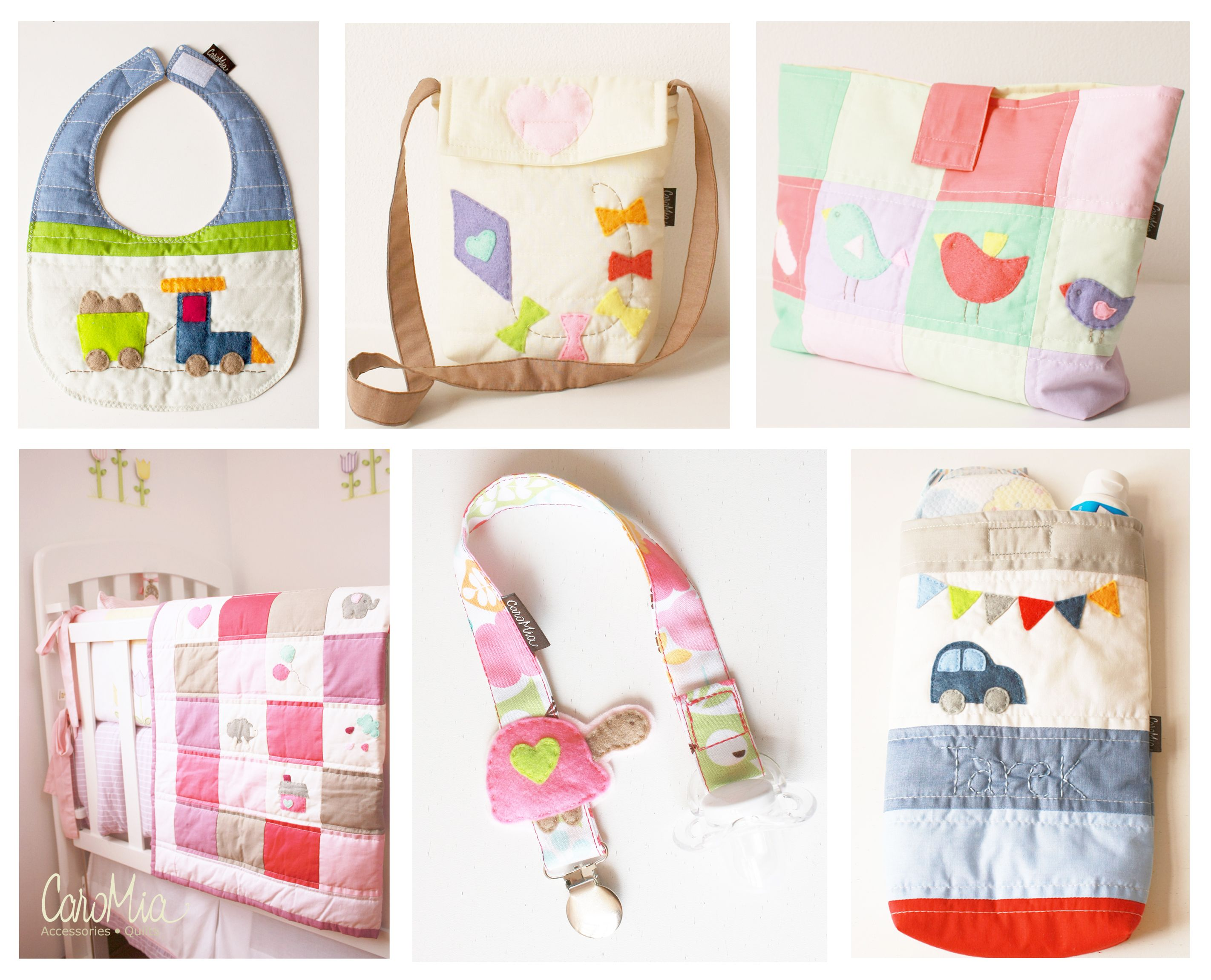 d0d3f267b Babero acolchado, bolso para niñas, porta ropa para bebes, Quilt (manta  acolchada), sujeta chupón, porta pañales! www.facebook.com/micaromia