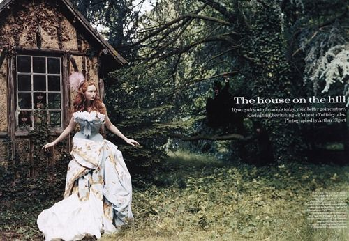 lily cole by Arthur Elgort 'The House on the Hill'